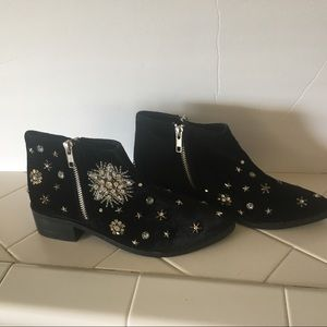 Naughty Monkey Suede Booties Size 6